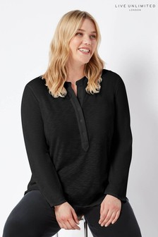 Live Unlimited Black Slub Jersey Shirt