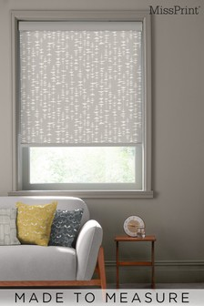 Ditto Dusty Grey Made To Measure Roller Blind by MissPrint