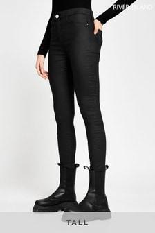 River Island Tall Black Molly Mid Rise Joyride Jeans