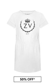Zadig & Voltaire Girls White Cotton Dress