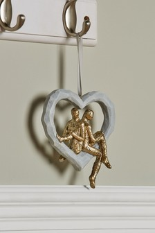 Couple On Heart Hanging Decoration