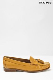 White Stuff Yellow Lexi Loafers