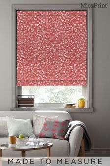 Fern Coral Pink Made To Measure Roman Blind by MissPrint