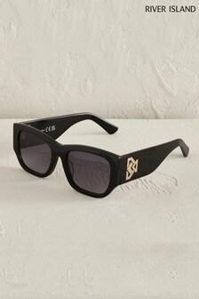 River Island Black Acetate Large Cat Eye Sunglasses
