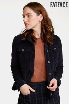 FatFace Blue Tanya Cord Jacket
