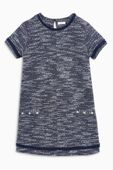 Tweed Pearl Effect Dress (3-16yrs)