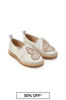 Sophia Webster Girls White Butterfly Espadrille Flats