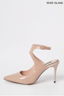 River Island Pink Light Turner Mid Court Shoes