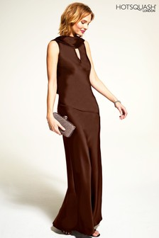 HotSquash Silky Gown With Cowl Neck