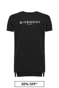 Givenchy Kids Girls Black Cotton Dress