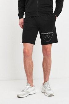 Emporio Armani Black Logo Shorts