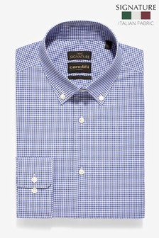 Slim Fit Check Canclini Signature Shirt