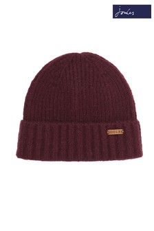 Joules Red Bamburgh Knitted Hat