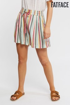 FatFace Natural Stripe Flippy Short