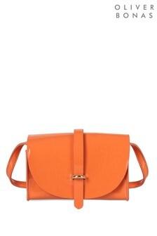 Oliver Bonas Coral Patent Tri Cross Body Bag