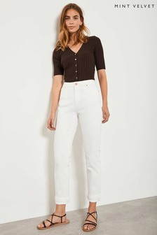 Mint Velvet White Houston Utility Jean