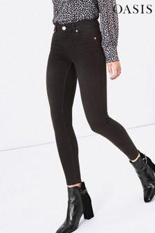Oasis Grey Jade Mid Rise Skinny Jeans