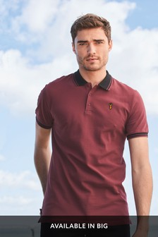 Slim Fit Contrast Collar Polo