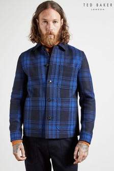 Ted Baker Blue Rift Checked Double Faced Workwear Jacket
