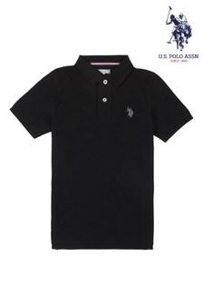 U.S. Polo Assn. Black Core Pique Polo Shirt