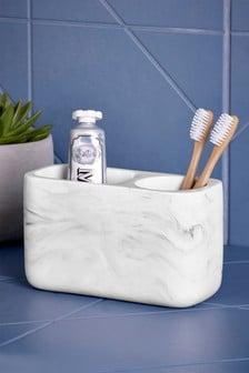 Organizador de cepillos de dientes de efecto marmolado