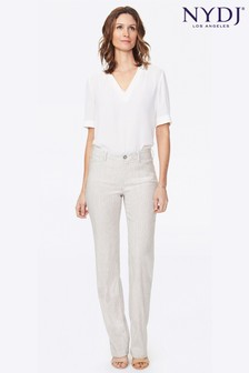 NYDJ Stretch Linen Trousers