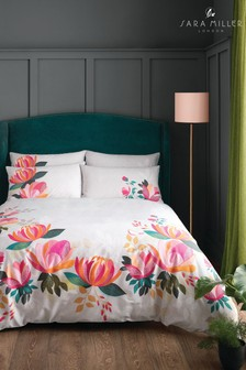 Sara Miller Peony Petals Cotton Duvet Cover and Pillowcase Set