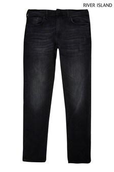 River Island Black Skinny Serento Washed Jeans