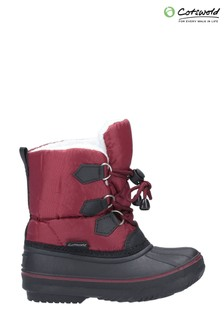 Cotswold Red Explorer Bungee Lace Snow Boots