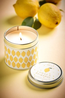 Lemon & Bergamot Tin Candle