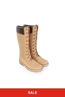 Girls Chestnut Courma Tall Zip Boots