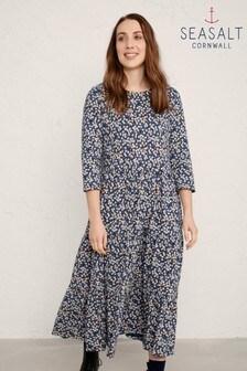 Seasalt Blue Line Strokes Dress