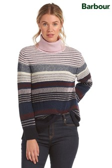 Barbour® Coastal Navy/Pink Striped Relaxed Fit Roseate Jumper