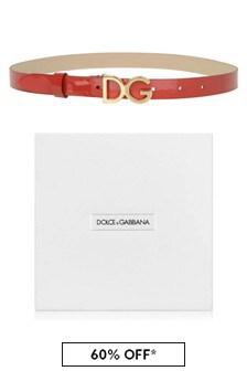 Dolce & Gabbana Kids Girls Patent Belt