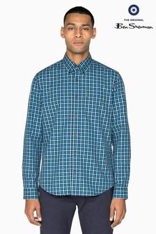Ben Sherman Main Line Blue House Gingham Shirt