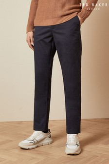 Ted Baker Blue Clenchi Classic Fit Chinos