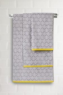Floral Geo Jacquard Towels