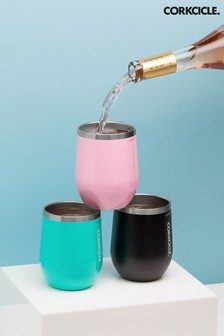 Corkcicle Green Insulated 355ml Stemless Glass