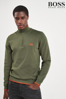 BOSS Green Zimex Quarter Zip Jumper