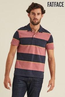 FatFace Pink Lutton Block Stripe Polo
