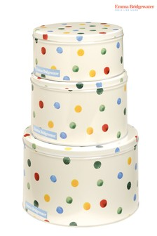 Set of 3 Emma Bridgewater Polka Round Nested Cake Tins
