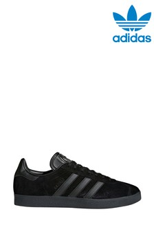 adidas Originals Black/Black Gazelle Trainers