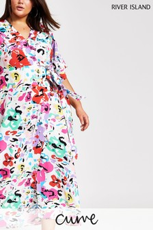 River Island White Floral Maxi Sarah Kimono Dress