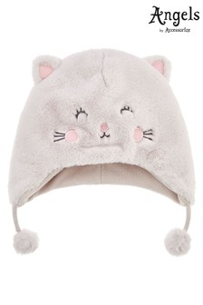 Angels by Accessorize Cream Fluffy Cat Chullo Hat