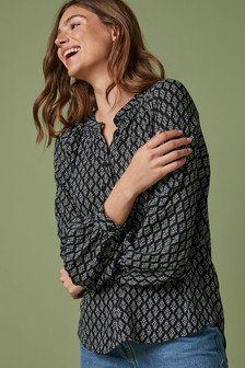 Smock Neck Blouse