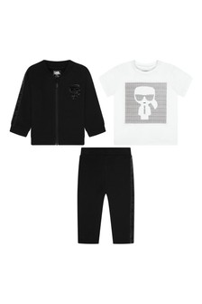 Karl Lagerfeld Baby Boys Black Cotton Tracksuit