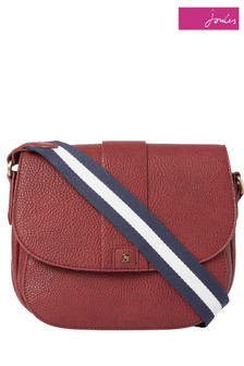 Joules Bridport Bright PU Saddle Cross Body Bag