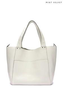 Mint Velvet Maggie Cream Slouch Bag