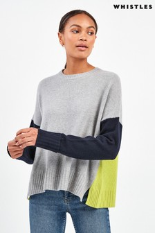 Whistles Freida Colourblock Knit Jumper