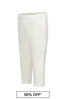 Emporio Armani Baby Girls White Trousers